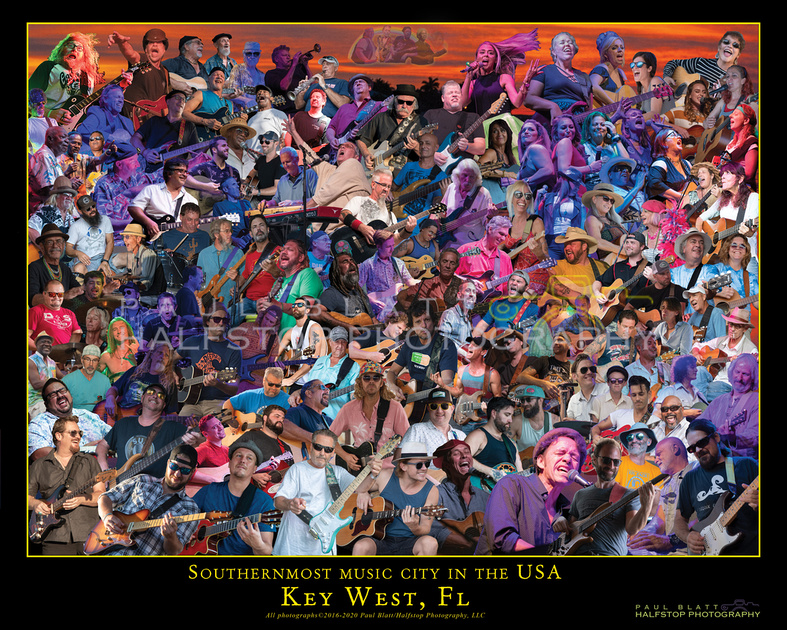 Key West Musicians Collage